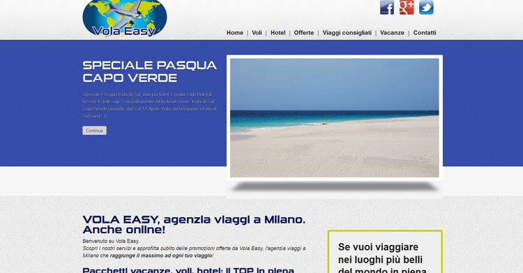 Vola Easy home page