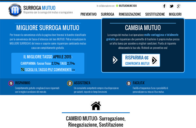 Surroga Mutuo home page